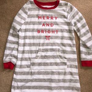 Carter's fleece Christmas Nightgown